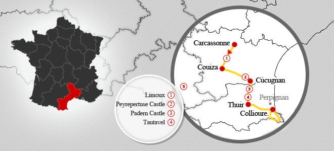 Cycle through the Cathar Region